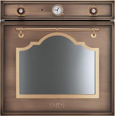 Электрический духовой шкаф Smeg SC750RA-8 - вид спереди