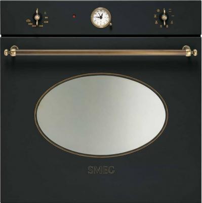 Электрический духовой шкаф Smeg SC805AO-9 - вид спереди
