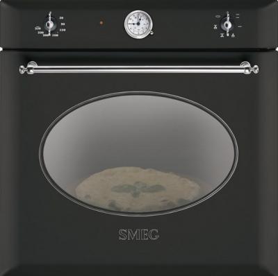 Электрический духовой шкаф Smeg SC850APZ8 - вид спереди