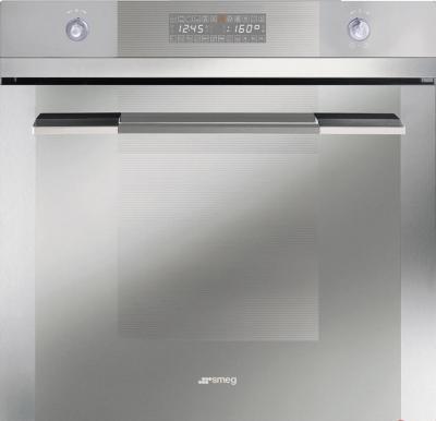 Электрический духовой шкаф Smeg SCP112B-8 - вид спереди