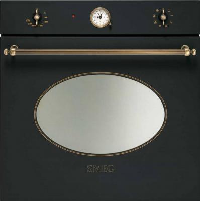 Электрический духовой шкаф Smeg SCP805AO9 - вид спереди
