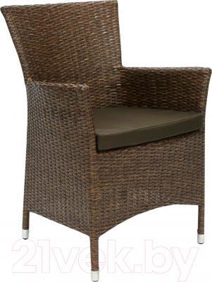 Кресло садовое Garden4you Wicker-1 12691 (коричневый) - общий вид
