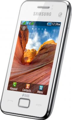 Мобильный телефон Samsung S5222 Star 3 Duos White (GT-S5222 UWASER) - общий вид
