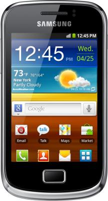Смартфон Samsung S6500 Galaxy Mini 2 Yellow (GT-S6500 ZYDSER) - вид спереди