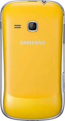 Смартфон Samsung S6500 Galaxy Mini 2 Yellow (GT-S6500 ZYDSER) - вид сзади