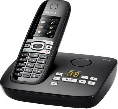 Беспроводной телефон Gigaset C610A - общий вид (черный)