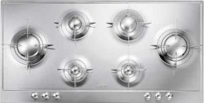 Газовая варочная панель Smeg P106 - вид спереди