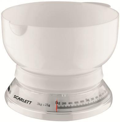 Кухонные весы Scarlett SC-1210 W - вид спереди