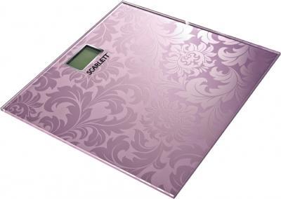 Напольные весы электронные Scarlett SC-217 (розовый) - общий вид