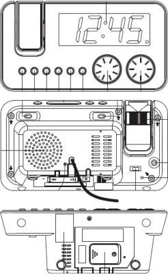 Радиочасы Vitek VT-3514  (Black) - схема