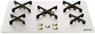 Газовая варочная панель Smeg P755AB - вид сбоку