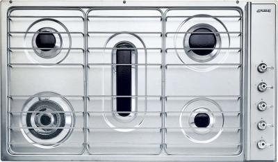 Газовая варочная панель Smeg S93ASX3 - Общий вид