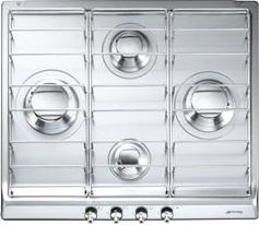 Газовая варочная панель Smeg SE60SX3 - Общий вид
