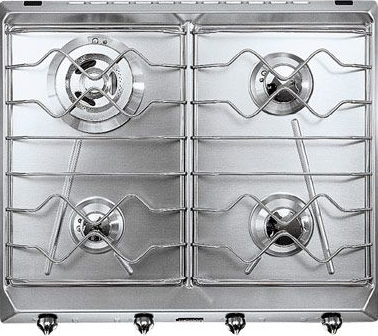 Газовая варочная панель Smeg SRV564X-3 - Общий вид