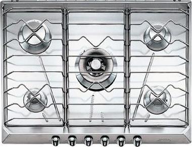 Газовая варочная панель Smeg SRV576X-5 - Общий вид