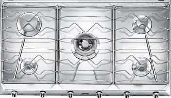 Газовая варочная панель Smeg SRV596X5 - Общий вид