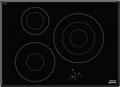 Индукционная варочная панель Smeg SI3733B - Общий вид
