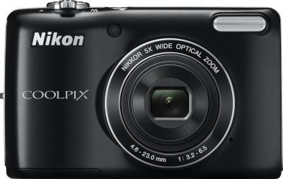 Компактный фотоаппарат Nikon Coolpix L26 Black - общий вид