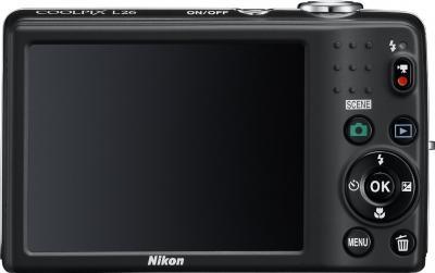 Компактный фотоаппарат Nikon Coolpix L26 Black - вид сзади
