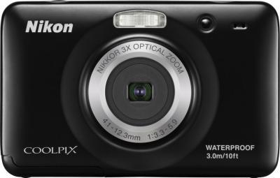 Компактный фотоаппарат Nikon Coolpix S30 (Black) - вид спереди