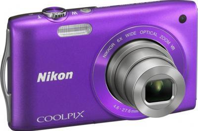 Компактный фотоаппарат Nikon Coolpix S3300 Violet - общий вид