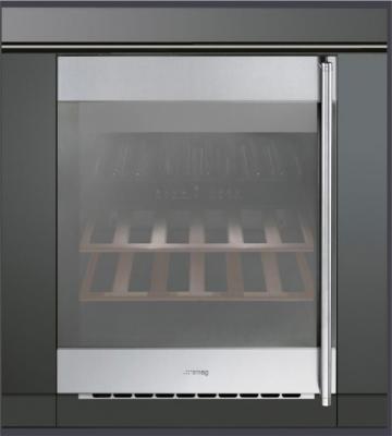 Винный шкаф Smeg CVI38XS - Вид спереди