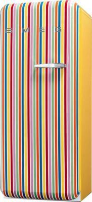 Холодильник с морозильником Smeg FAB28LCS1 - Вид спереди