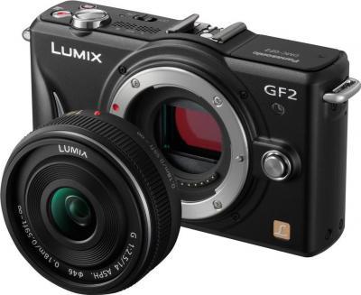 Беззеркальный фотоаппарат Panasonic Lumix DMC-GF2KEE-K - общий вид