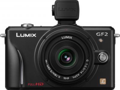 Беззеркальный фотоаппарат Panasonic Lumix DMC-GF2KEE-K - вид спереди
