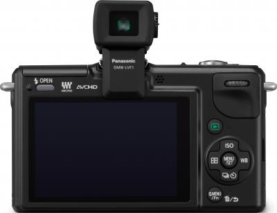 Беззеркальный фотоаппарат Panasonic Lumix DMC-GF2KEE-K - вид сзади