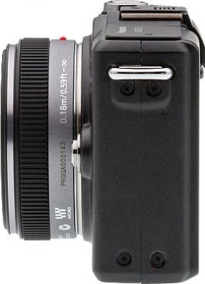 Беззеркальный фотоаппарат Panasonic Lumix DMC-GF2KEE-K - вид сбоку