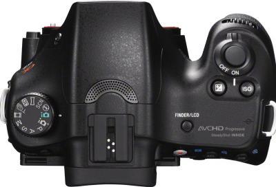 Зеркальный фотоаппарат Sony SLT-A57Y - вид сверху