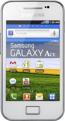 Смартфон Samsung S5830I Galaxy Ace White - вид спереди