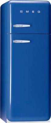Холодильник с морозильником Smeg FAB30BL7 - Вид спереди