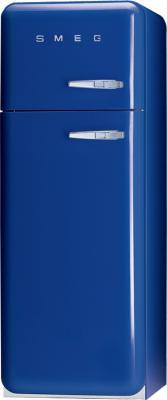 Холодильник с морозильником Smeg FAB30BLS7 - Вид спереди