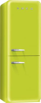 Холодильник с морозильником Smeg FAB32VE7 - Вид спереди