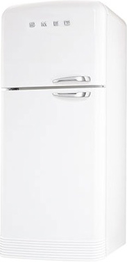 Холодильник с морозильником Smeg FAB50BS - Вид спереди