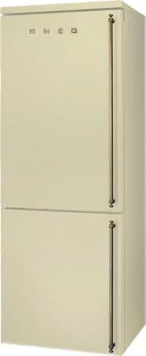 Холодильник с морозильником Smeg FA800POS9 - Вид спереди
