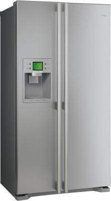 Холодильник с морозильником Smeg SS55PTE2 - Вид спереди
