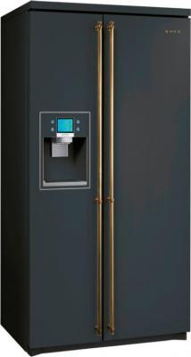 Холодильник с морозильником Smeg SBS800AO9 - Общий вид
