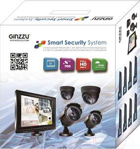 Комплект видеонаблюдения Ginzzu HS-T704KB