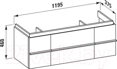 Тумба под умывальник Laufen Case for Palace 120x37.5x46 (4013020754631)