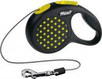 Поводок-рулетка Flexi Design 12167 (XS, желтый) -