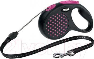 Поводок-рулетка Flexi Design 12176 (S, розовый) - общий вид