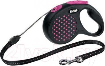 Поводок-рулетка Flexi Design 12186 (M, розовый) - общий вид