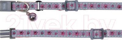 Ошейник Trixie Flower&Butterfly 41685 (светоотражающий, с колокольчиком) - общий вид