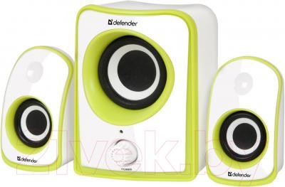 Мультимедиа акустика Defender JamSation S10 / 65610 (бело-зеленый) - общий вид