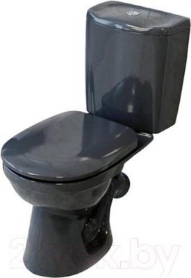 Унитаз напольный Керамин Омега (графит, с жестким сиденьем)