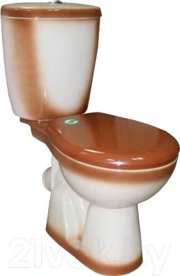 Унитаз напольный Rosa Евро (коричневый)