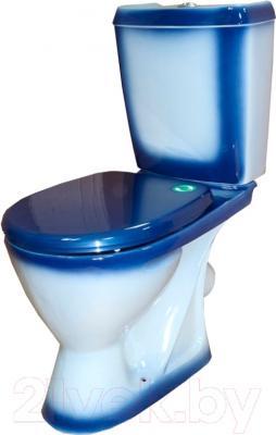 Унитаз напольный Rosa Ресса (синий)